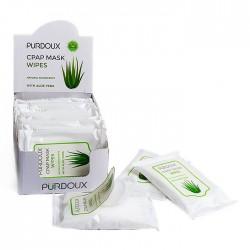 Cutie Șervețele Umede Aloe Vera Purdoux Igienizare Măști 12 Pachete, 10 Șervețele / Pachet